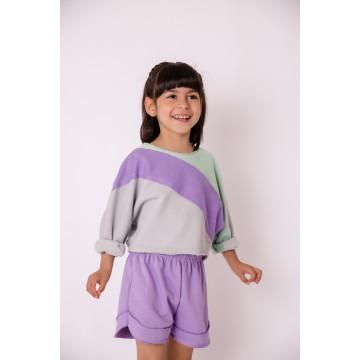 Melin Rose Μπλούζα baby φούτερ τρίχρωμη - Junior
