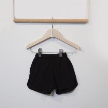 Two in a Castle monochrome basic shorts jnr - Black